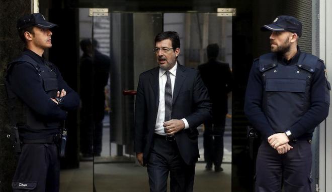 El juez Fernando Andreu, a la salida de la Audiencia Nacional.