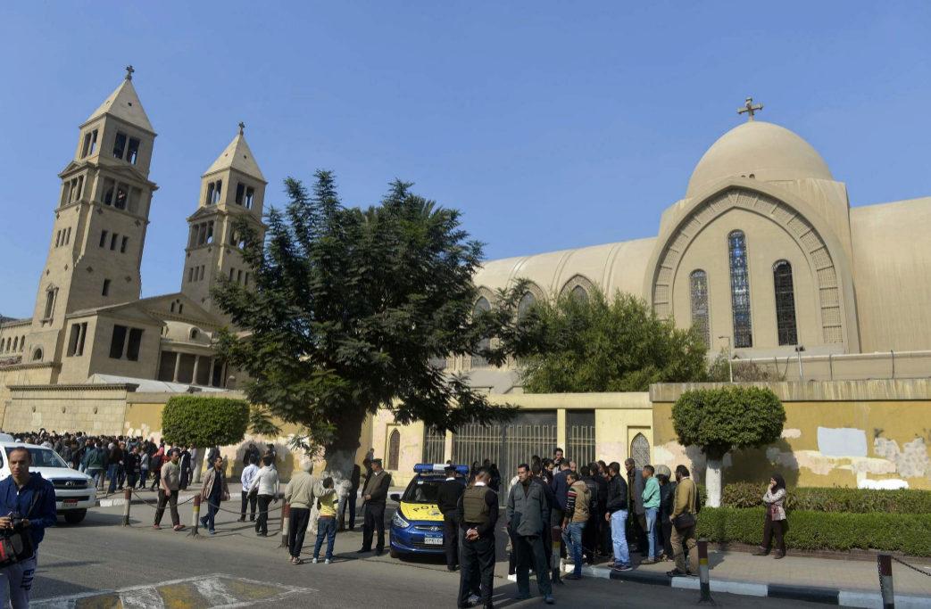 La detonación de la bomba se ha producido en la entrada de la iglesia...