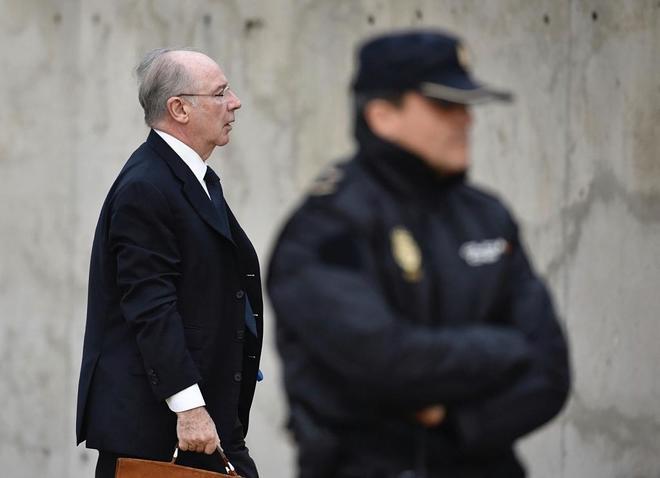 Rodrigo Rato acude a declarar en la Audiencia Nacional el pasado 5 de...
