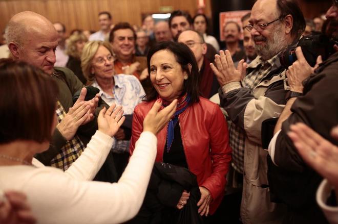 La diputada Margarita Robles, en la presentación de la plataforma de militantes que piden primarias.