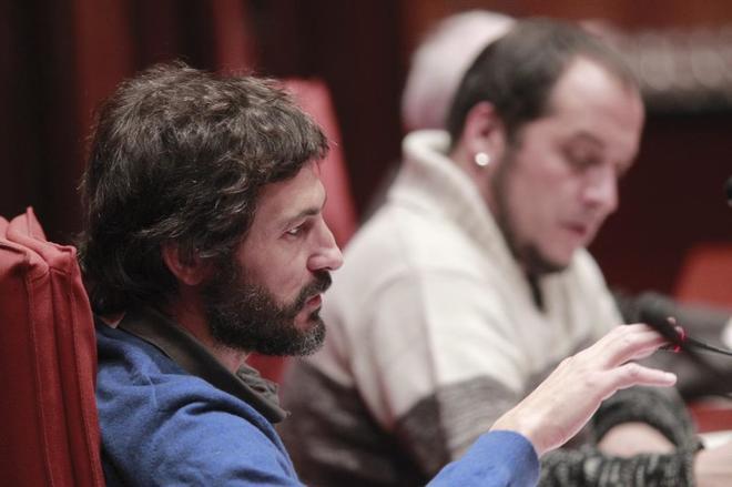 Oleguer Pujol en la Comisión  anti fraude  del Parlamento de Cataluña, el pasado año.