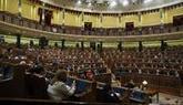 Vista general del hemiciclo del Congreso durante un pleno del pasado...