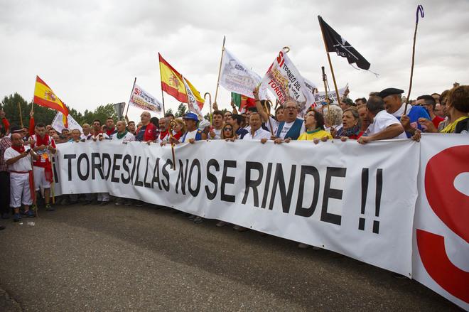 Protesta de los tordesillanos.