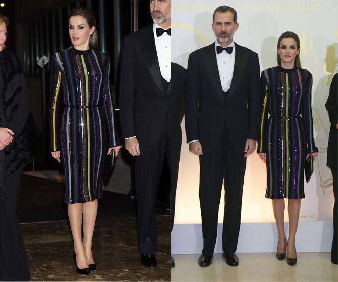 'Look' completo de la Reina Letizia en los Premios Mariano de Cavia.