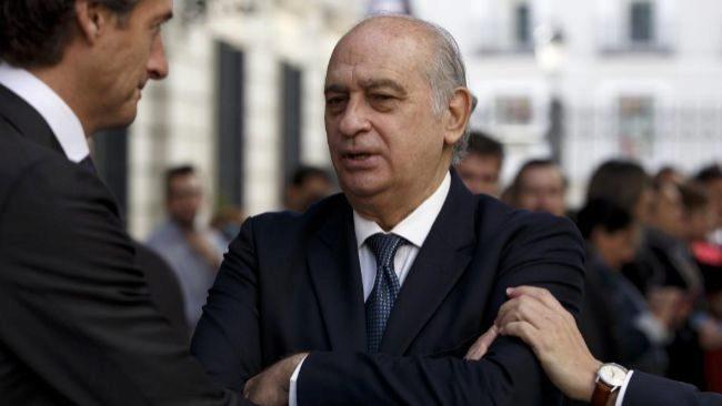 El ex ministro del Interior Jorge Fernández Díaz, el mes pasado en...