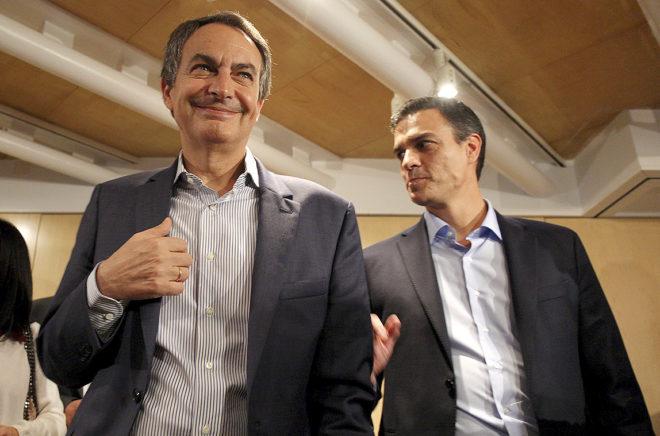 José Luis Rodríguez Zapatero, en 2015, en uno de los pocos actos que tuvo con Pedro Sánchez.
