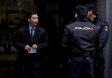 El empresario chino Gao Ping, a la salida de la Audiencia Nacional.