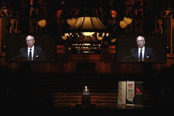 El empresario Rupert Murdoch, durante un acto del Lowy Institute en...