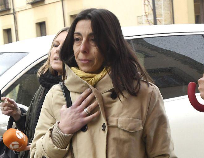 Raquel Gago en su última visita a la Audiencia Provincial de León