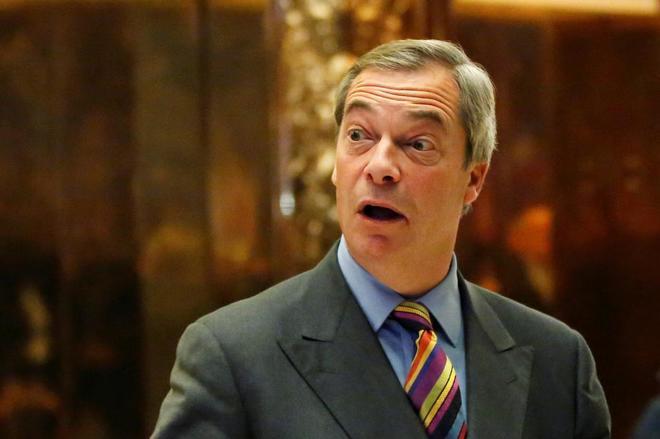 Nigel Farage en la Torre Trump en Manhattan (Nueva York).