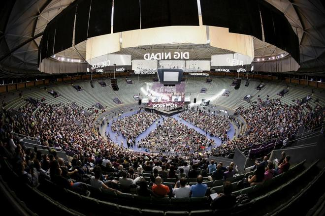 Imagen de Vistalegre durante la Asamblea Ciudadana de Vistalegre.