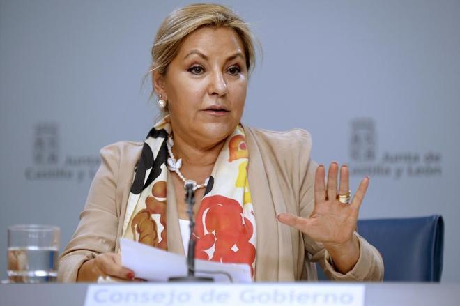 Rosa Valdeón comparece en rueda de prensa el pasado mes de...