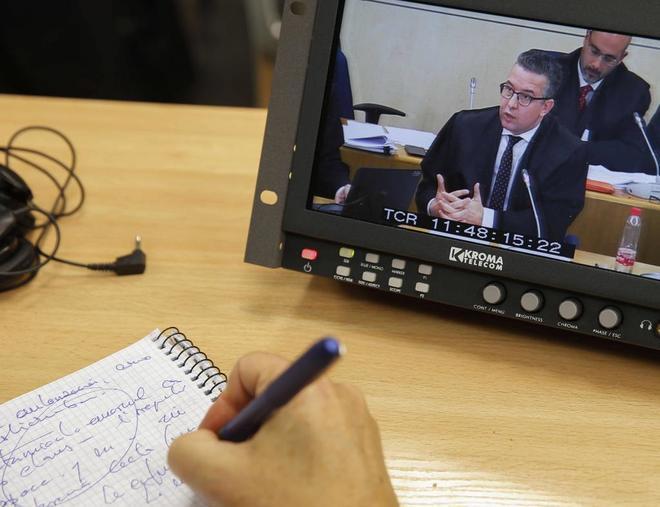 Detalle de la intervención del abogado de Bankia, Joaquín...