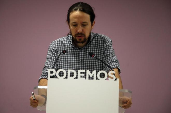 Pablo Iglesias comparece en rueda de prensa tras conocer el resultado...