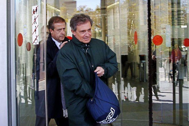 Jordi Pujol Ferrusola abandona la sede de la Ciutat de la Justícia,...