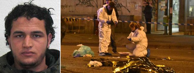 Agentes de la policía científica italiana inspeccionan el lugar en el que ha muerto Anis Amri.