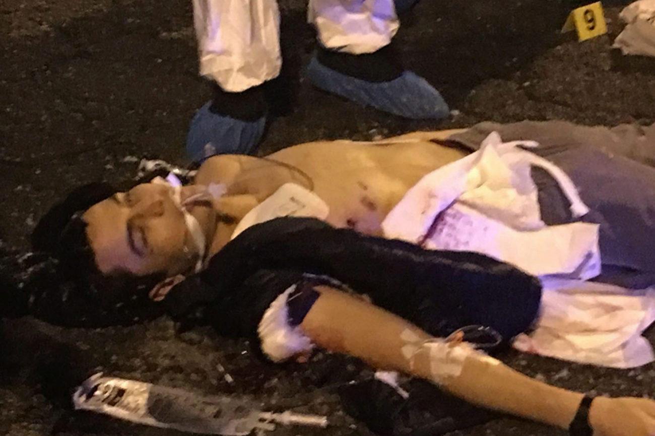 El cuerpo sin vida de Anis Amri yace en el suelo tras ser abatido