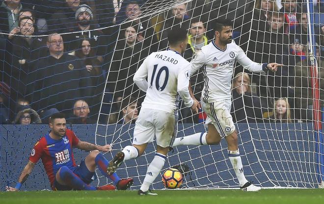 Diego Costa celebra un gol en un partido reciente del Chelsea.