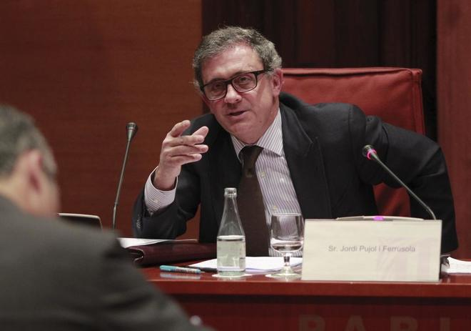 Jordi Pujol Ferrusola, en la comisión de investigación del Parlament...