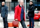 Rodrigo Rato, a su llegada al juicio de las tarjetas 'black', el...