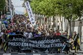 Manifestación en Bilbao en favor de los presos etarras.