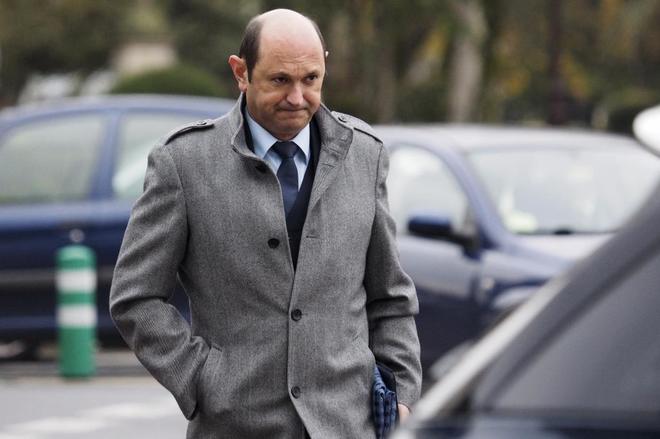 Rafael Louzán, en los juzgados de Lugo el pasado 15 de diciembre.