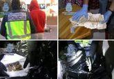 Varias fotografías con imágenes de la detención y los posteriores...