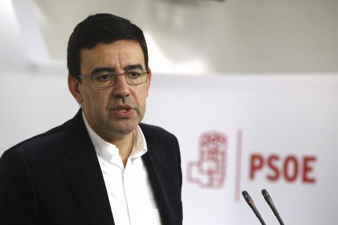 Mario Jiménez, en la rueda de prensa celebrada hoy en Madrid.