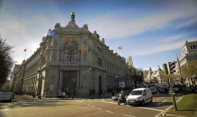 Fachada del edificio del Banco de España en Madrid.