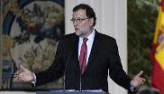 El presidente del Gobierno, Mariano Rajoy, en rueda de prensa tras la...