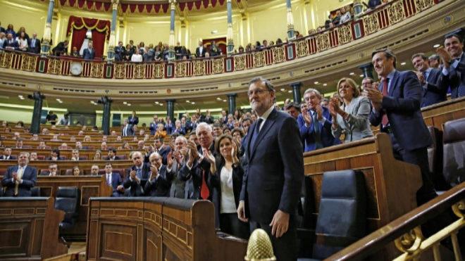Mariano Rajoy, durante la sesión de su investidura. | ALBERTO DI...