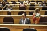 Pedro Sanz, actual senador del PP, en un pleno del pasado julio.