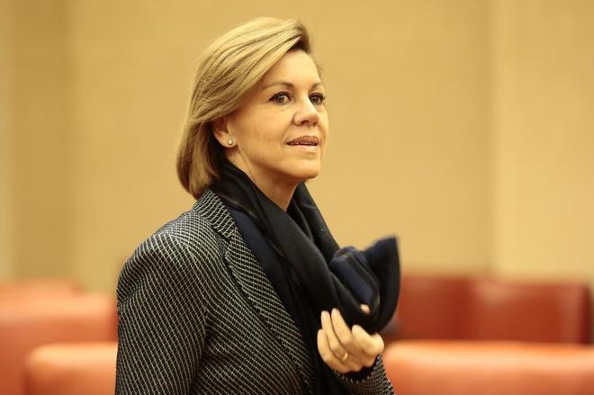 La ministra de Defensa, María Dolores de Cospedal, comparece en la...