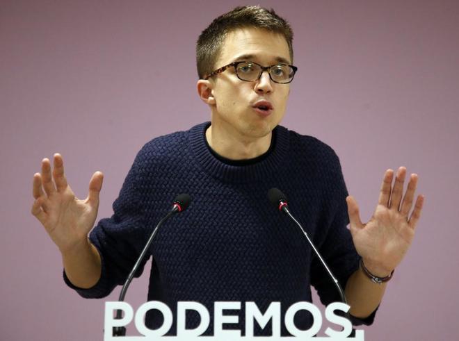 Íñigo Errejón, 'número dos' de Podemos, en rueda de prensa.