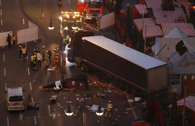 Imagen tras el ataque en el mercado de Berlín