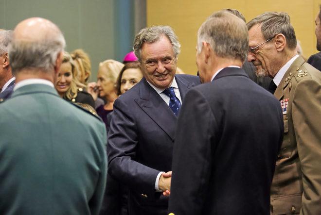 El empresasrio Ignacio López del Hierro, sonriente durante la toma de...