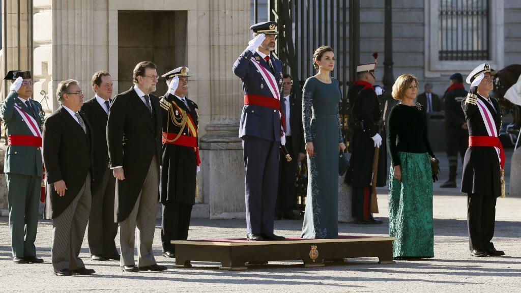 El Rey Felipe VI, la Reina Letizia, María Dolores de Cospedal,...