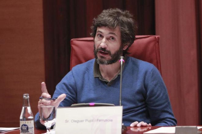 Oleguer Pujol, en la Comision anti fraude del Parlamento de Catalunya.