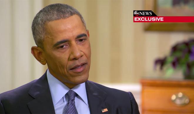 Barack Obama, durante su entrevista con ABC News.