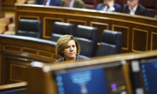 MarÍa Dolores de Cospedal en el Congreso de los Diputados.