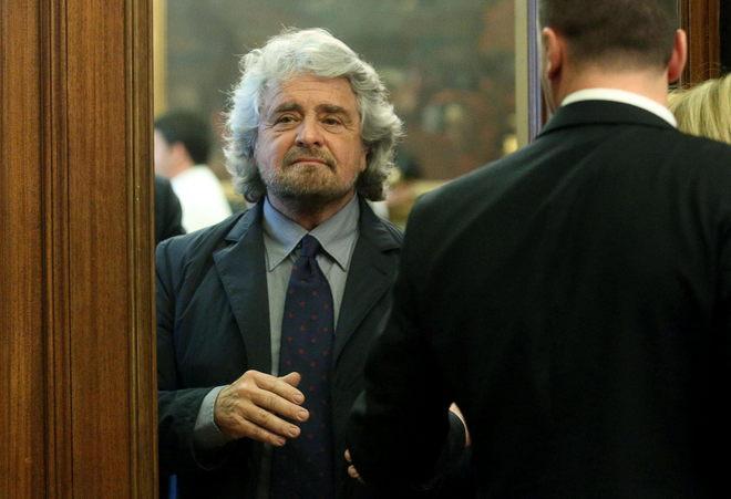 El líder del Movimiento Cinco Estrellas, el cómico Beppe Grillo, en Roma.