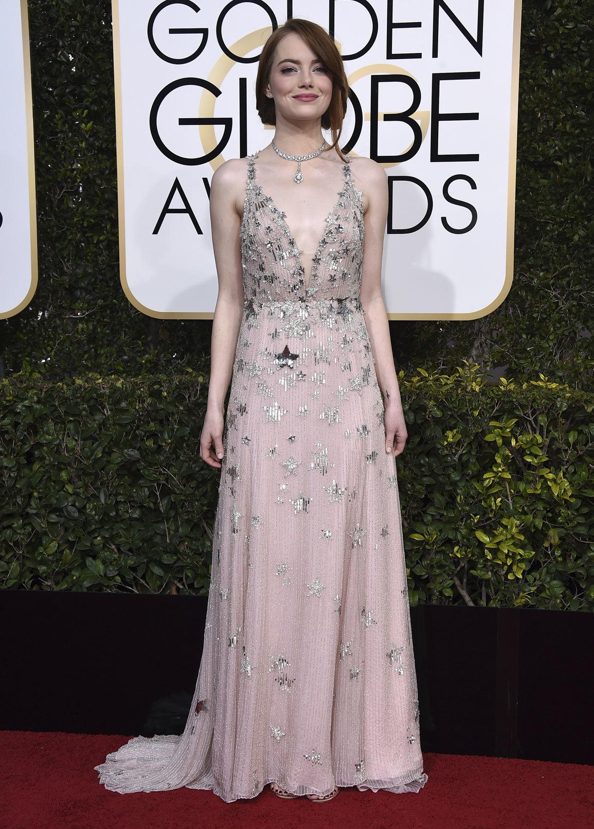 Emma Stone es una de las ganadoras indiscutibles de esta alfombra roja...