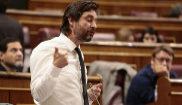 El diputado de Podemos Rafael Mayoral, en la sesión de control del...