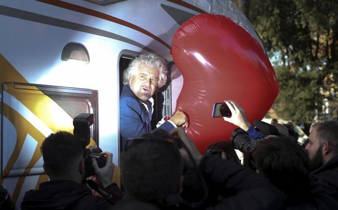 Beppe Grillo, fundador del Movimiento 5 Estrellas, en Roma, el pasado noviembre.