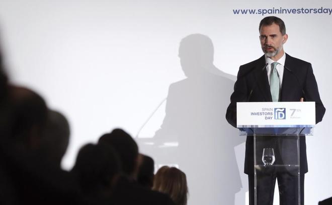Felie VI, durante su intervención en el foro del Spain Investors Day.