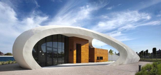 Este edificio, que está en Escocia, es obra de Snohetta.