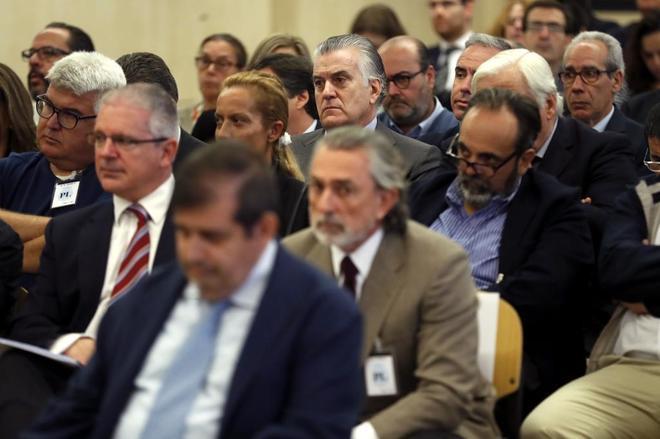 Los acusados del 'caso Gürtel', el primer día del juicio.