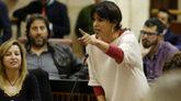 Teresa Rodríguez, durante una intervención en el Parlamento de...