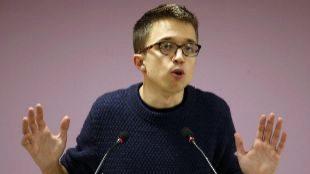 Íñigo Errejón, en rueda de prensa en la sede de Podemos el pasado...