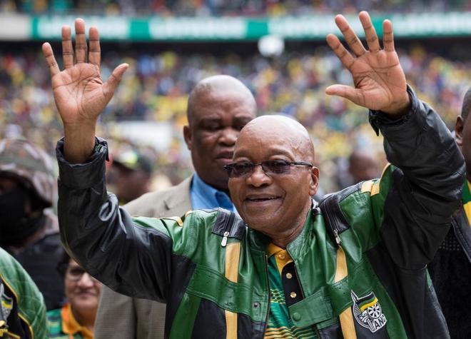 Jacob Zuma, en la conmemoración de los 105 años del Congreso Nacional Africano, en Soweto.